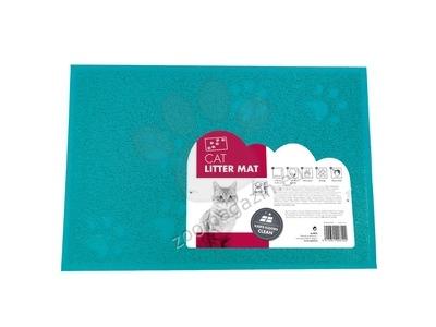 M-Pets Footprint Cat Litter Mat - килимче за котешка тоалетна 30 / 40 см. / синя, зелена /