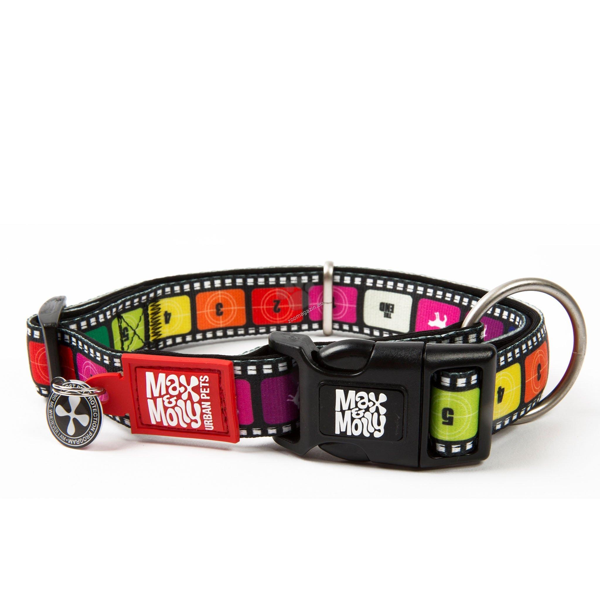Max Molly Smart ID Movie L - нашийник с ID чип за сигурност 39 - 62 см. / 25 мм.