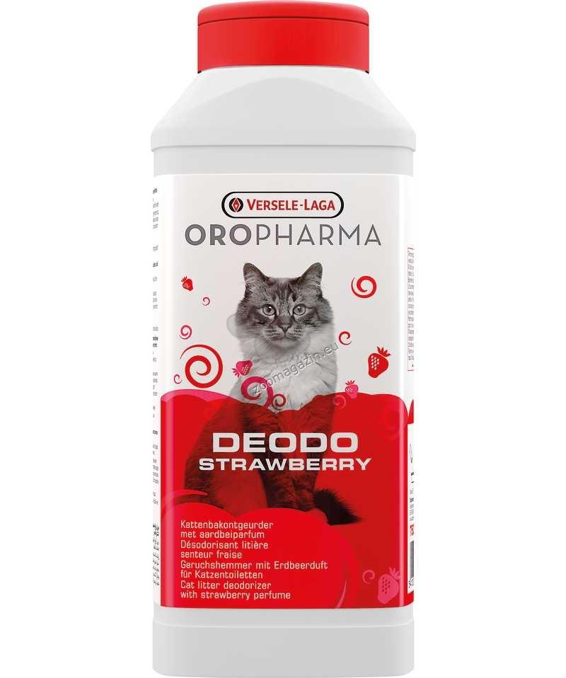 Versele Laga - Oropharma Deodo Odour Control Strawberry - дезодорант на прах за котешка тоалетна с аромат на ягода 750 гр.