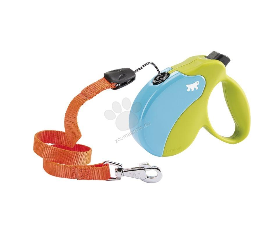 Ferplast - Amigo Colours Cord S Green Turcuoise - 5 метра въже, за кучета с тегло до 15 кг.
