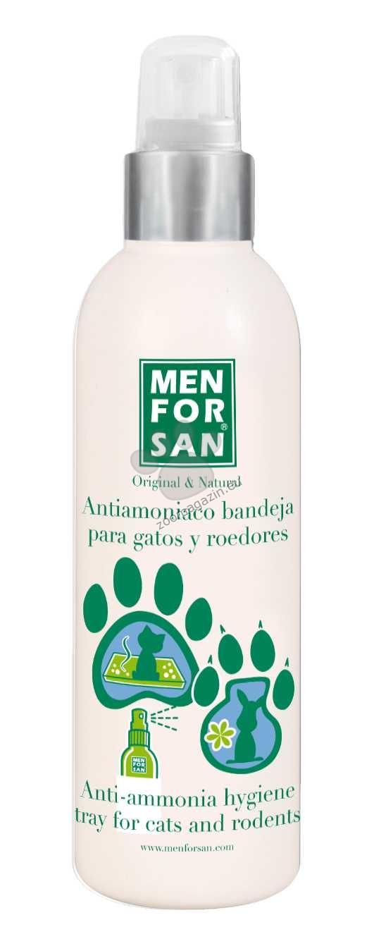 Menforsan Anti-Ammonia for Cat and Rodents hygienic tray - дезодорира и ароматизира толаетната или клетката 125 мл.