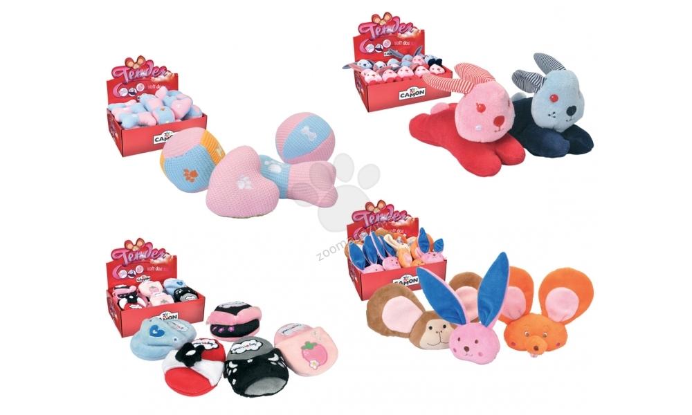 Camon Soft toys Tender - плюшена играчка за кучета 13 см. / синя, черна, сива, розова, червена /