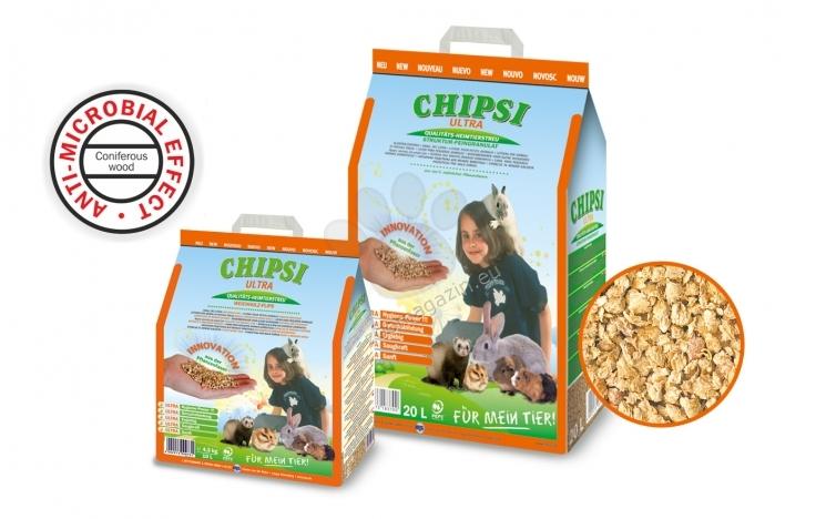 JRS Chipsi Ultra - гранули с голяма хигроскопичност и абсорбция на миризми, 10 литра