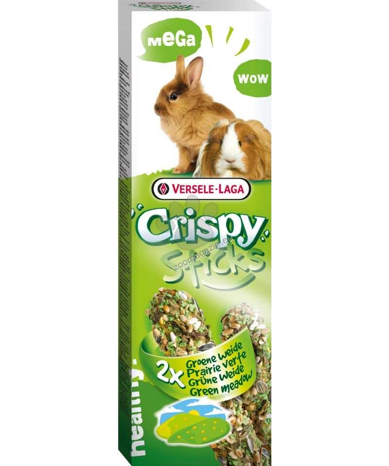 Versele Laga - Crispy Mega Sticks Green meadow - мега крекер със зелена ливада - 2 х 70 гр.