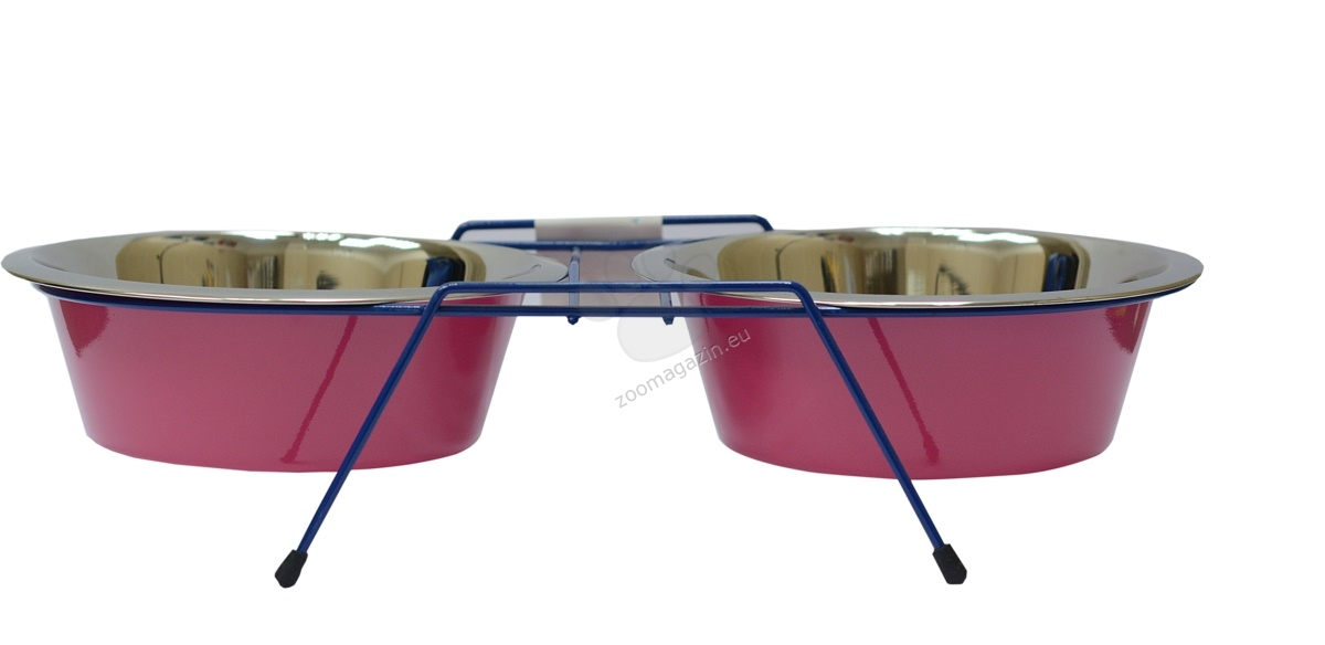 Petex Trazpeze - купички със стойка за храна и вода, 2 х 240 мл /зелена, жълта, розова, лилава/