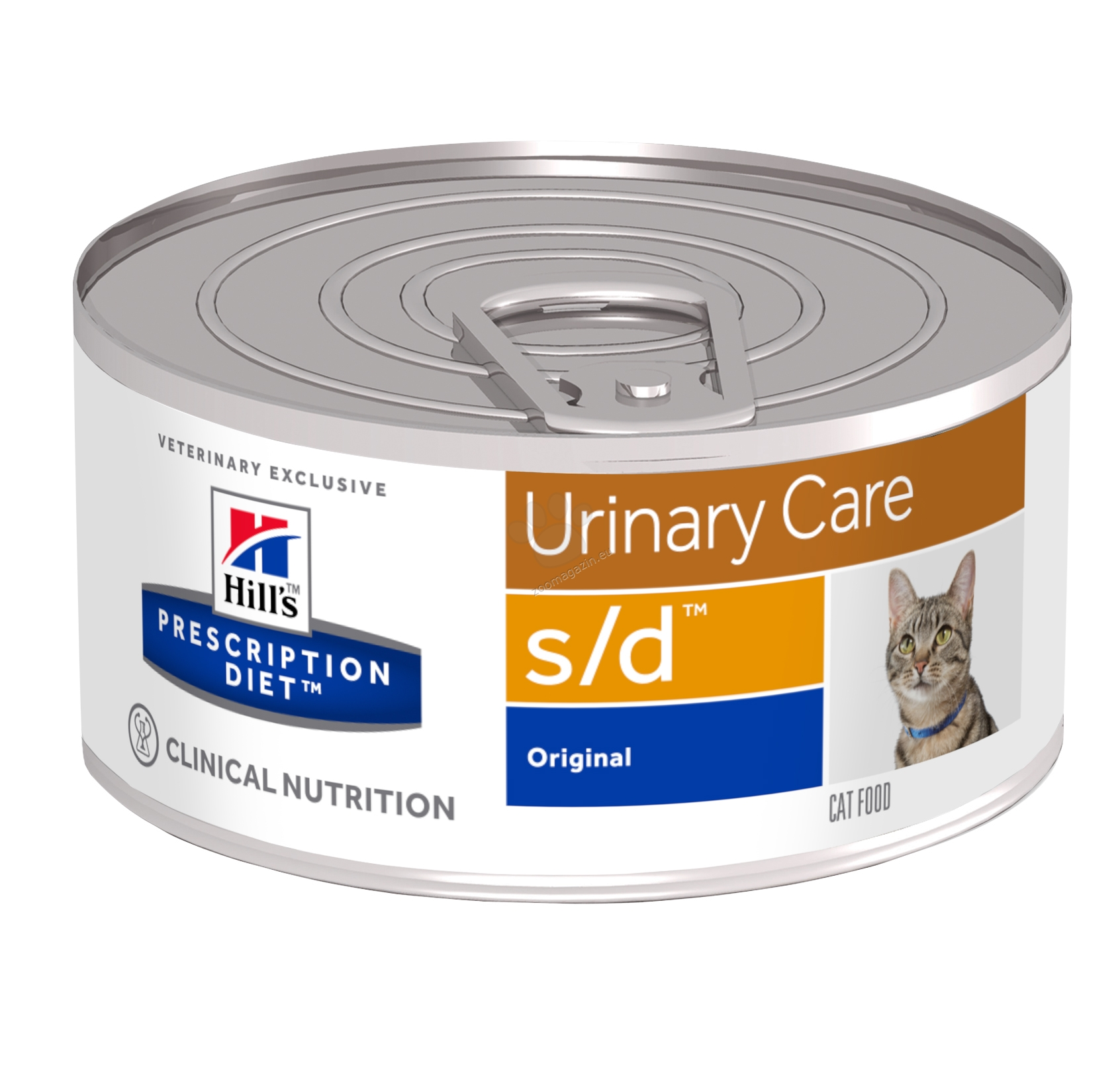 Hills Prescription Diet s/d Feline – за бързо разтваряне на струвитни уролити (до 7 дни) 156 гр.