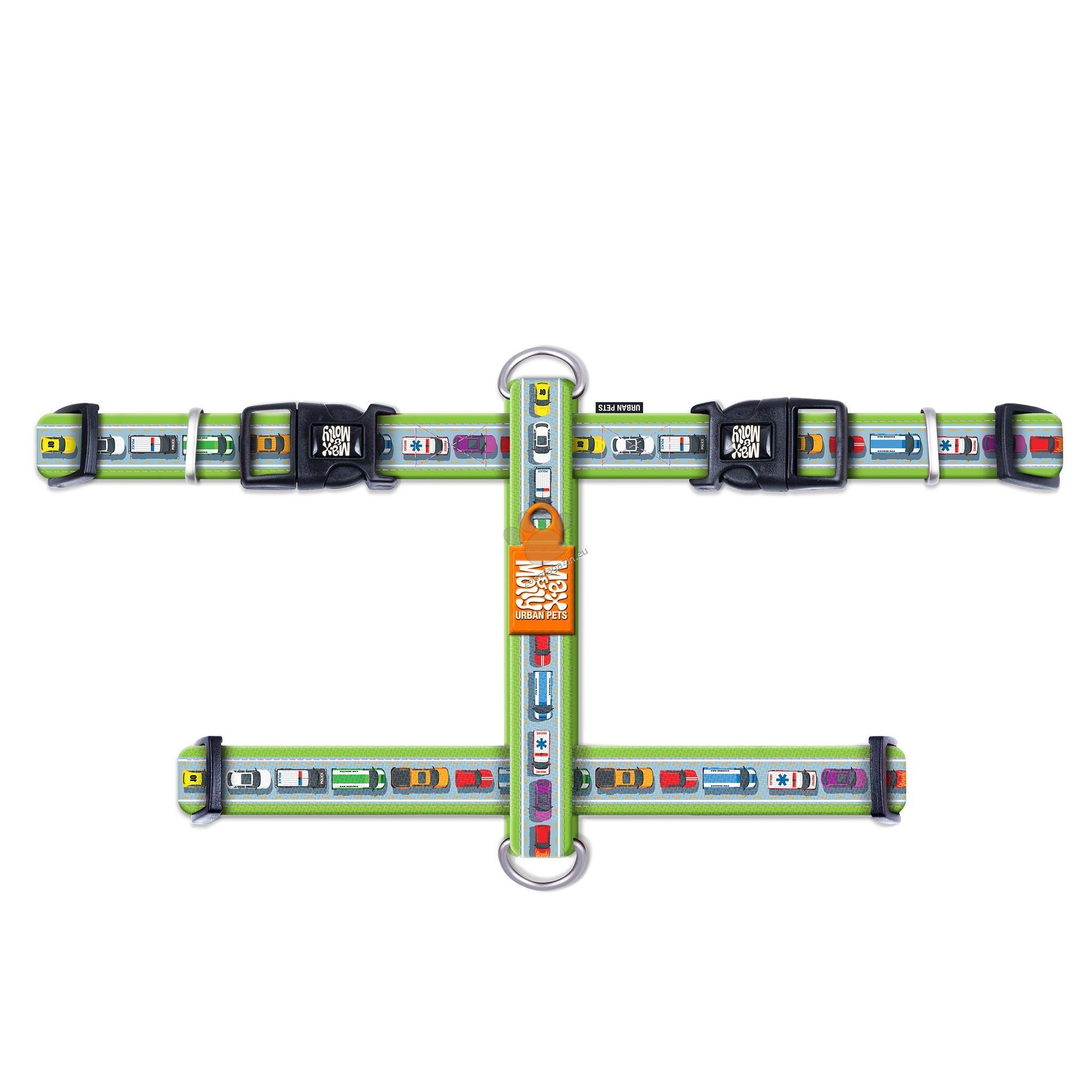 Max Molly H-Harness Traffic Jam XS - нагръдник за кучета с обиколка на врат 24 - 39 см., гърди 32 - 40 см. / 10 мм. и тегло до 9 кг.