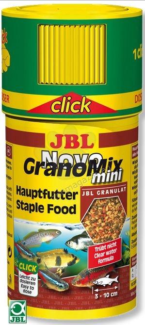 JBL NovoGranoMix mini click - храна за малки рибки в общ аквариум  100 мл.