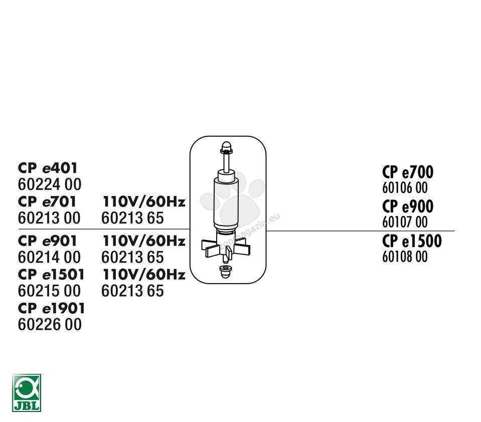 JBL CP e 701 Greenline Rotor - ротор за външен филтър Cristal Profi e 701