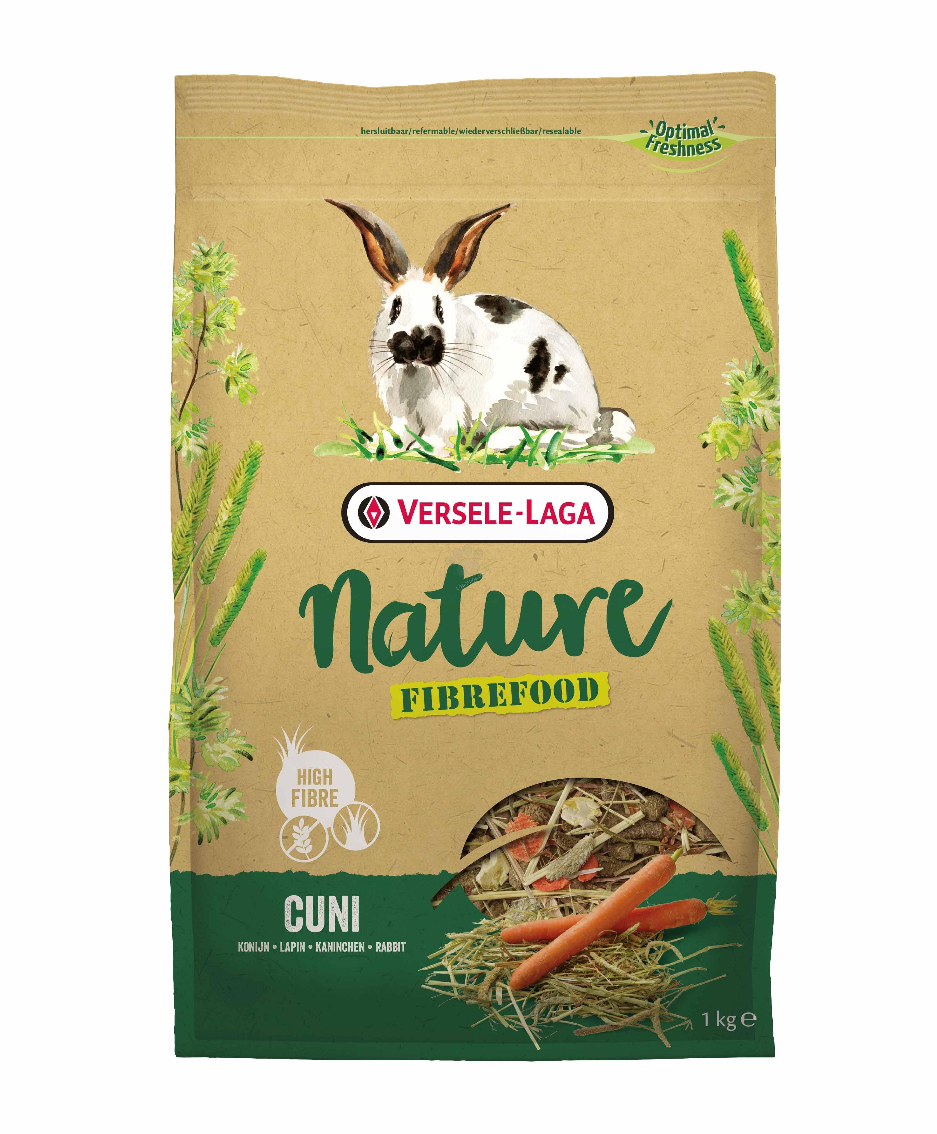 Versele Laga - Fibrefood Cuni - пълноценна храна за мини зайчета, възрастни, капризни и живеещи у дома 1 кг.