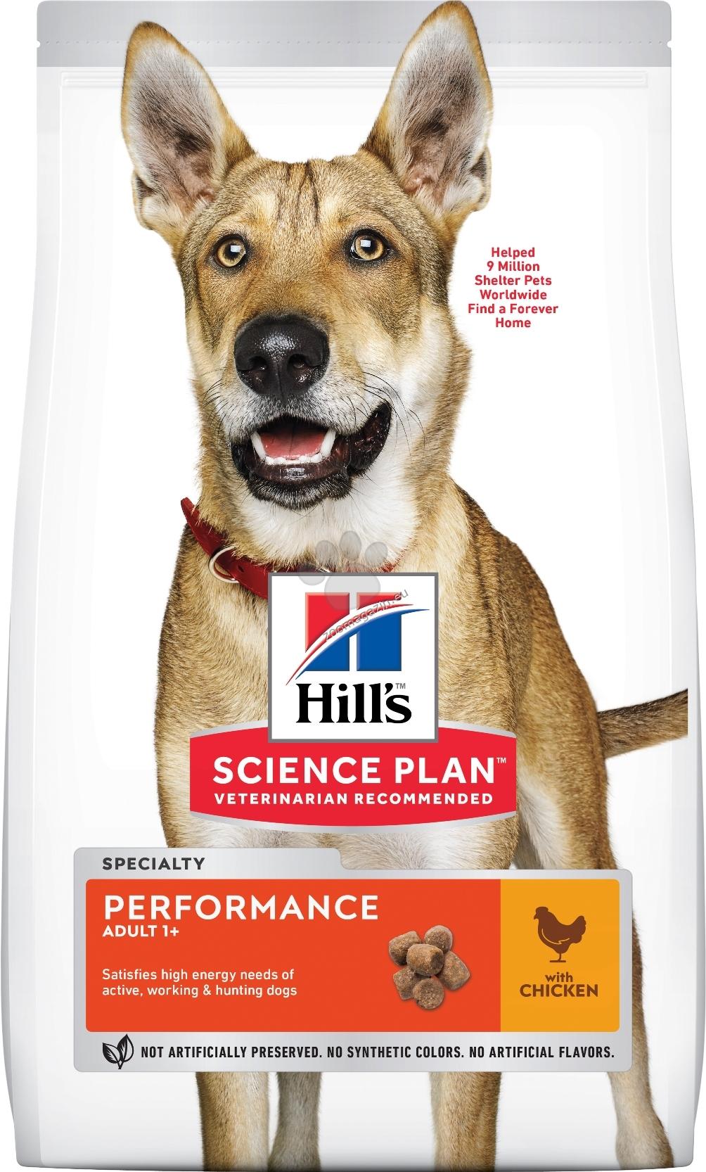 Hills - Science Plan Adult Performance с пилешко – пълноценна суха храна за кучета с повишени енергийни нужди на възраст над 1 година 14 кг. + ПОДАРЪК: 2бр. лакомства Healthy Mobility