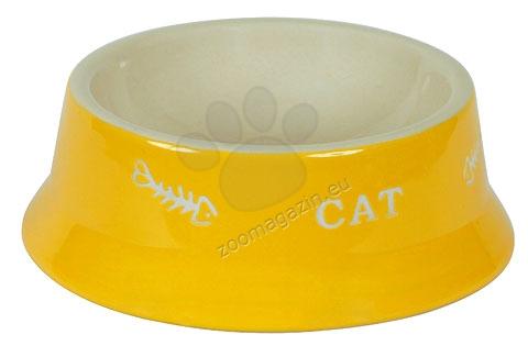 Kerbl Ceramic Bowl Cat - керамична купичка 200 мл. / жълта, червена /