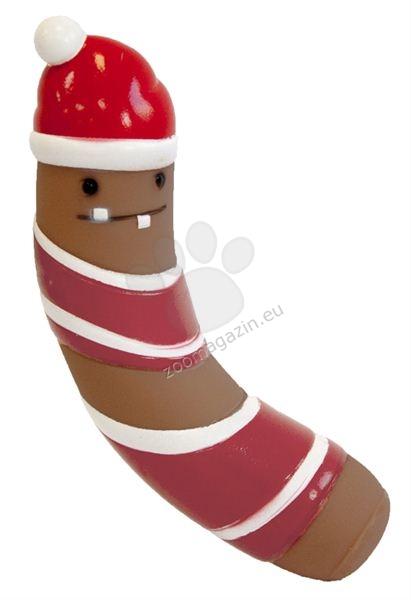 Pet Brands Christmas Vinyl Festive Sausage Dog Toy - коледна играчка 14 см.
