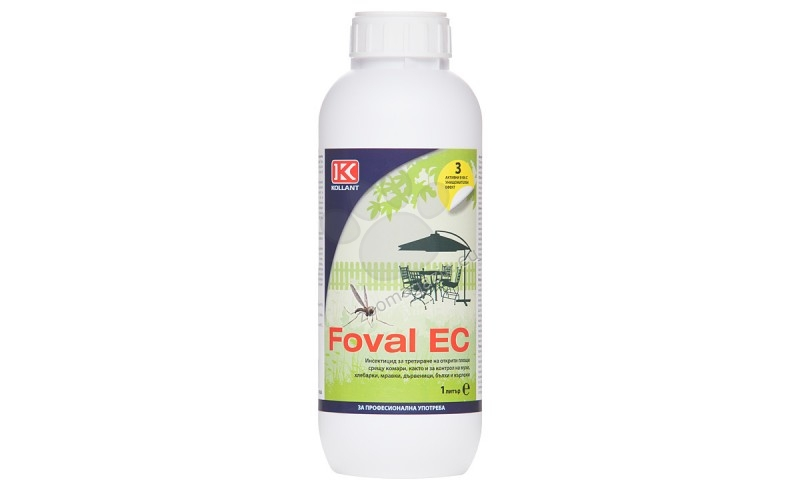 Фовал ЕК - Основно за контрол на комари и мухи на открито 50 мл.