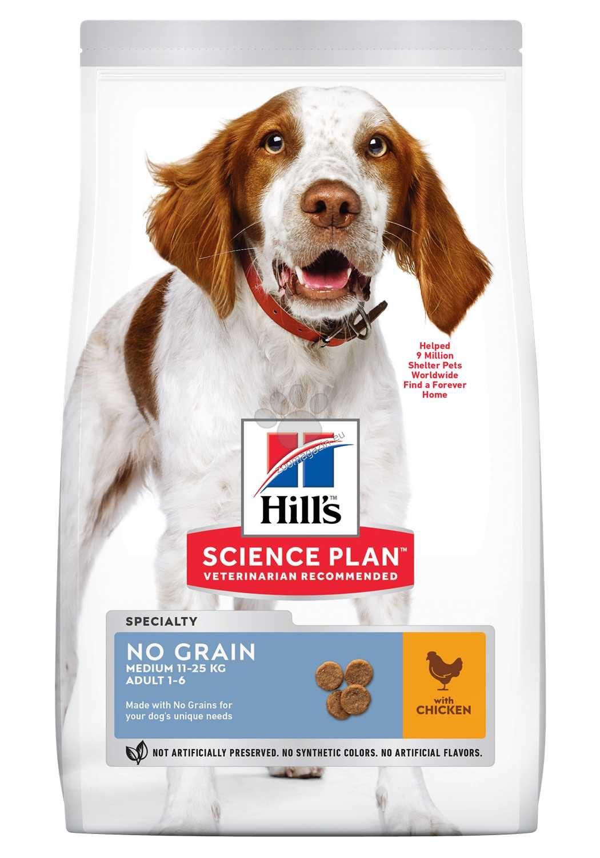 Hills  - Science Plan Adult NO GRAIN – Пълноценна суха храна за кучета над 1 година, без зърнени култури 14 кг. + ПОДАРЪК: 2бр. лакомства Healthy Mobility
