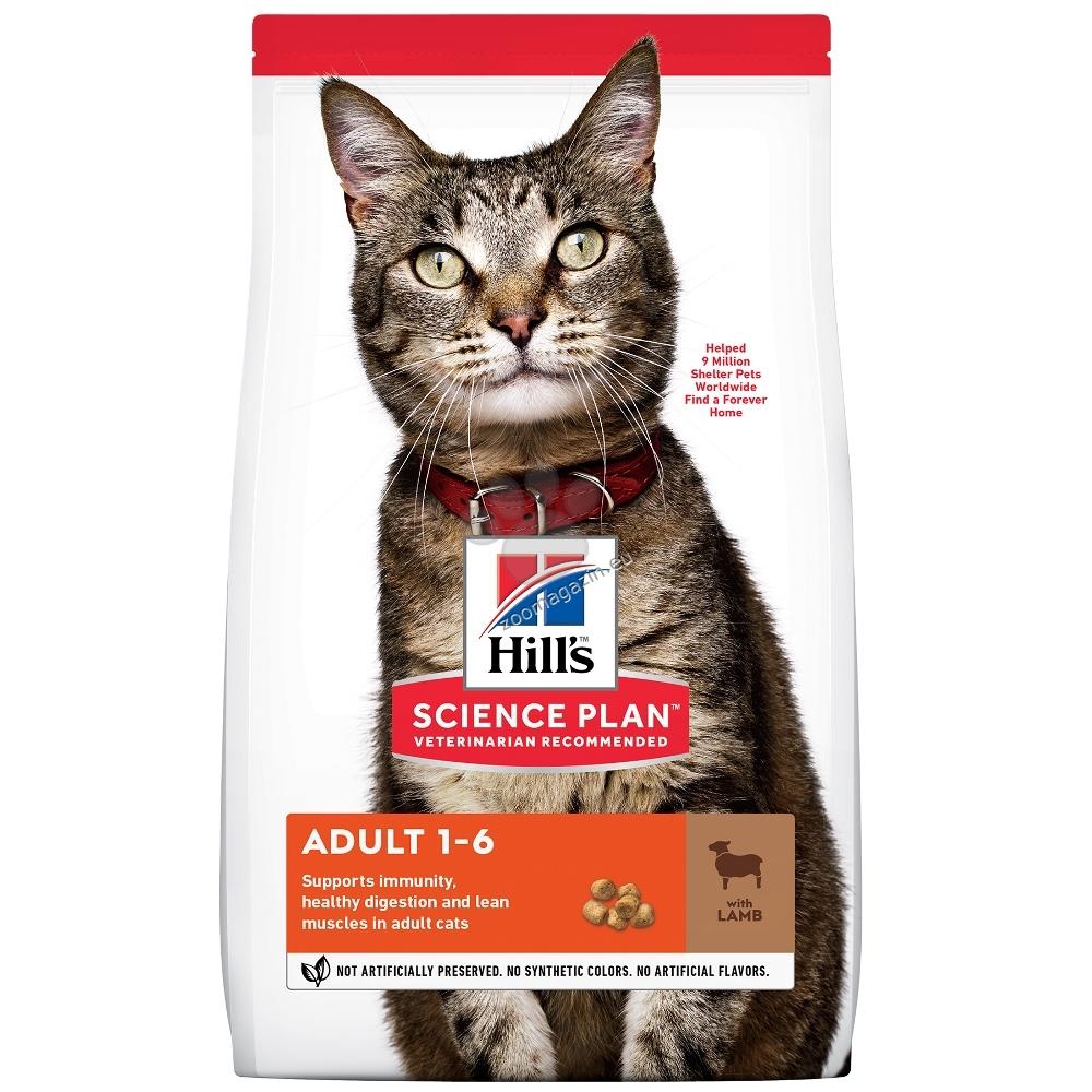 Hills - Science Plan Adult с агнешко - Суха храна за котки от 1 до 6 години 10 кг.