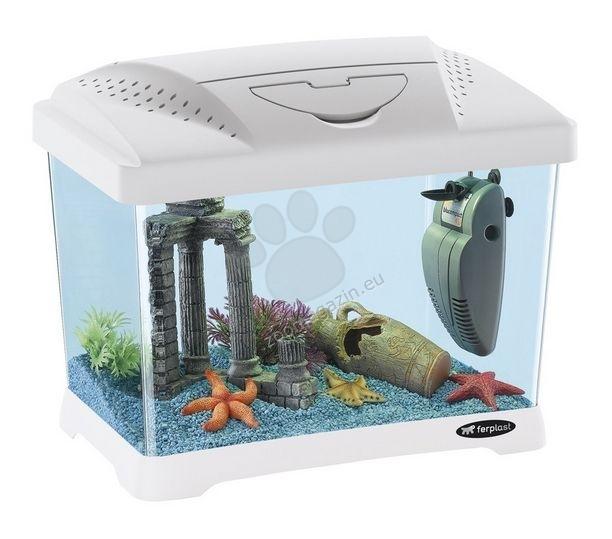 Ferplast - Aquarium Capri Junior White - аквариум с пълно оборудване  41 / 26,5 / 34 cm