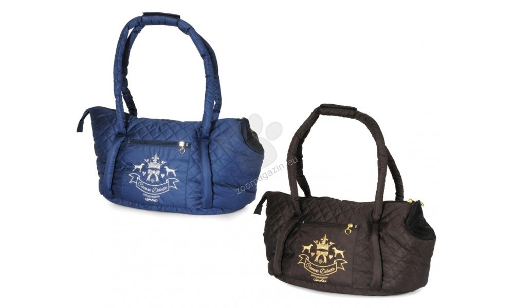 Camon Camon Deluxe - луксозна мека транспортна чанта 46 / 26 / 26.5 см. / синя, кафява /
