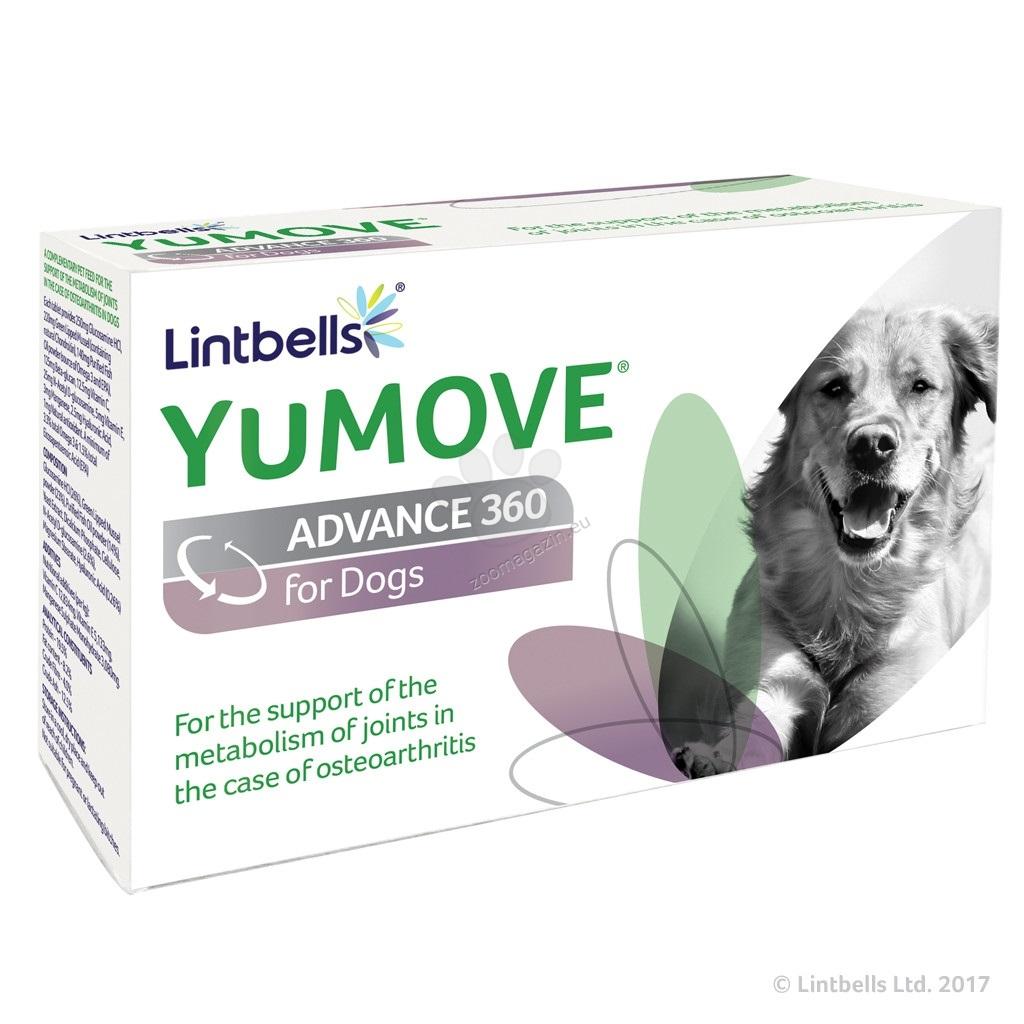 Lintbells - Yumove Advance 360 For Dogs - подпомага ставния метаболизъм в случай на остеоартрит при кучета 120 таблетки