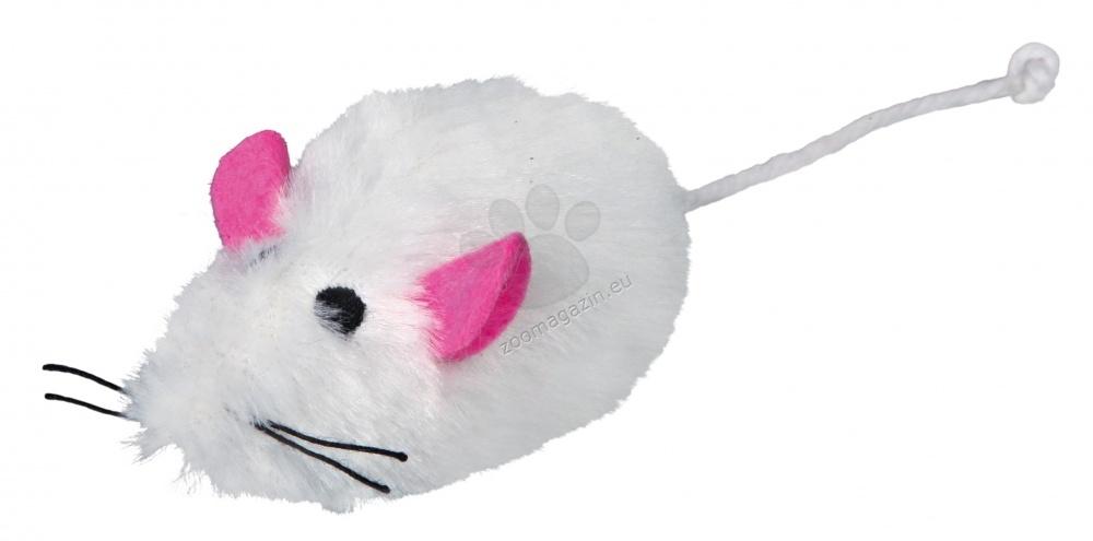 Trixie Haired Plush Mice - мишка дългокосместа / бяла, сива /  9 см.