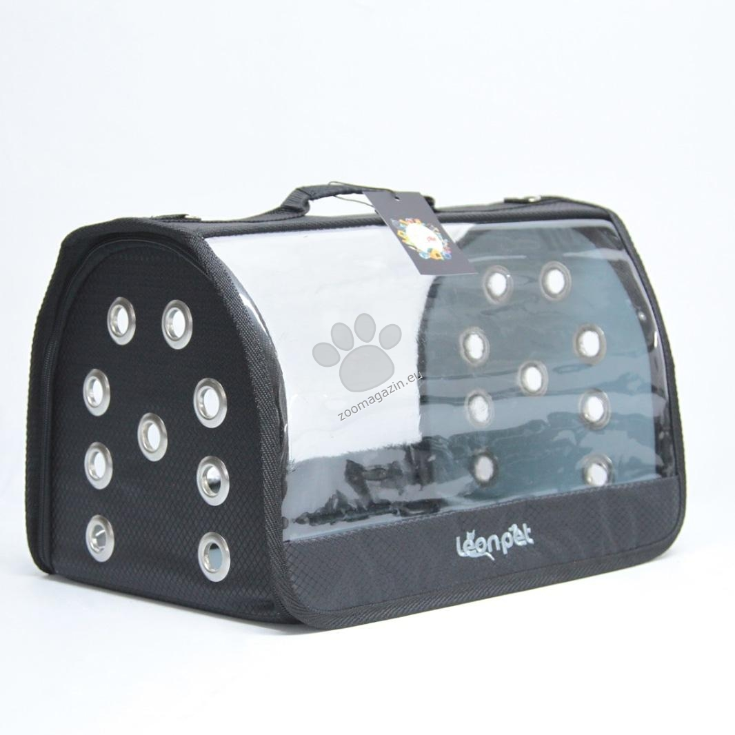 Dubex Leon Open Fly - транспортна чанта / черна, лилава, сива / 42 / 26 / 26 см.