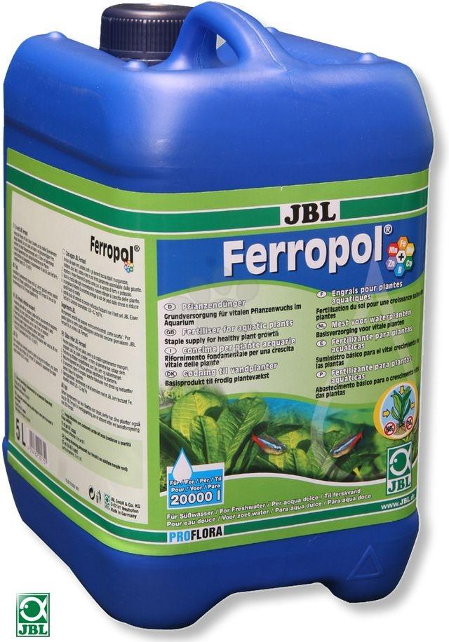 JBL Ferropol - течна тор за аквариумни растения с микроелементи 5000 мл.