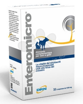 Enteromicro - комбинация от пребиотици и пробиотици с микрокапсулирани лактобацили и коластрени антитела 32 табл.