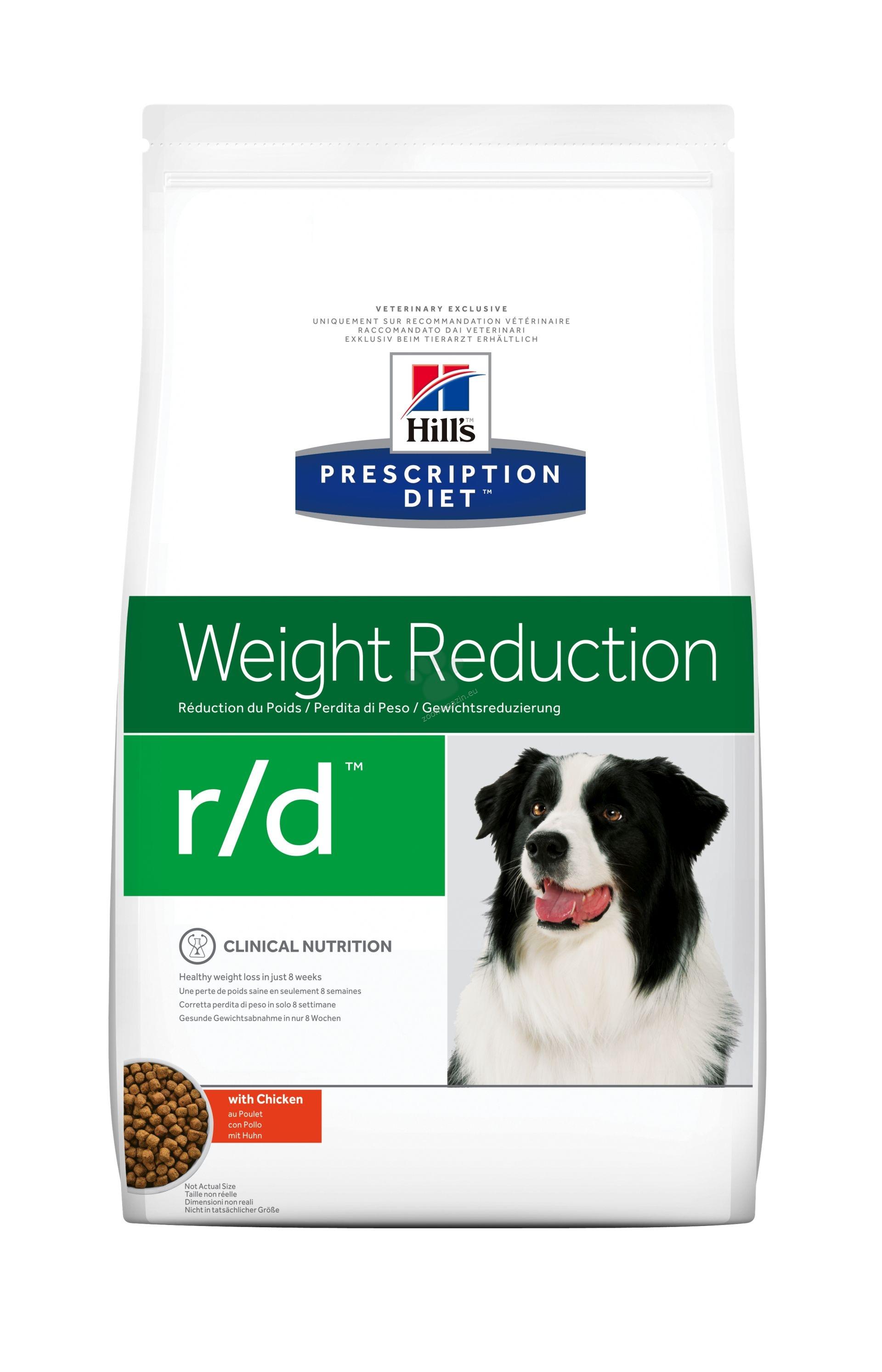 Hills Prescription Diet r/d - диета за кучета с диабет, наднормено тегло и колит или запек 4 кг.