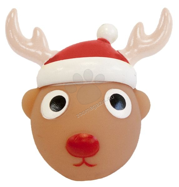 Pet Brands Christmas Vinyl Reindeer Ball Dog Toy - коледна играчка 9 см.