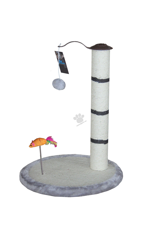 Valenger - Скрачер с въртящо топче и мишка на пружина 40 / 40 / 52 см.