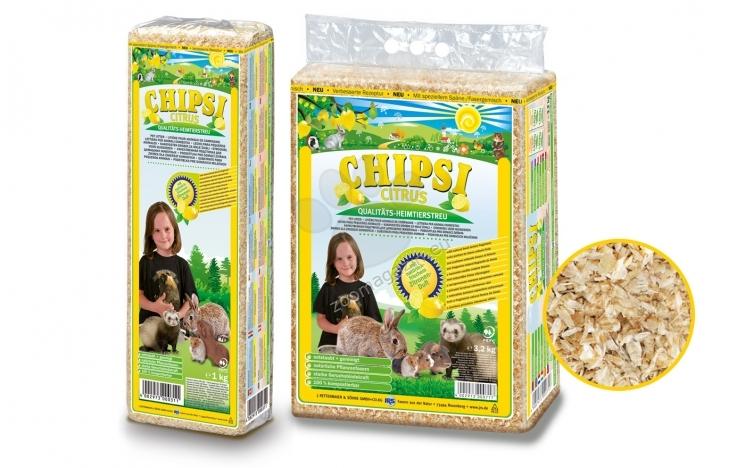 JRS Chipsi Citrus - обезпаразитен и обезпрашен талаш с аромат на лимон, 15 литра