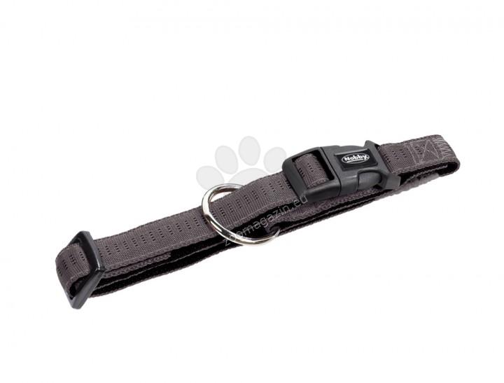 Nobby Soft Grip - нашийник за кучета с обиколка на врата 50-65 см. / 25 мм. / сив, бежов, зелен, червен /