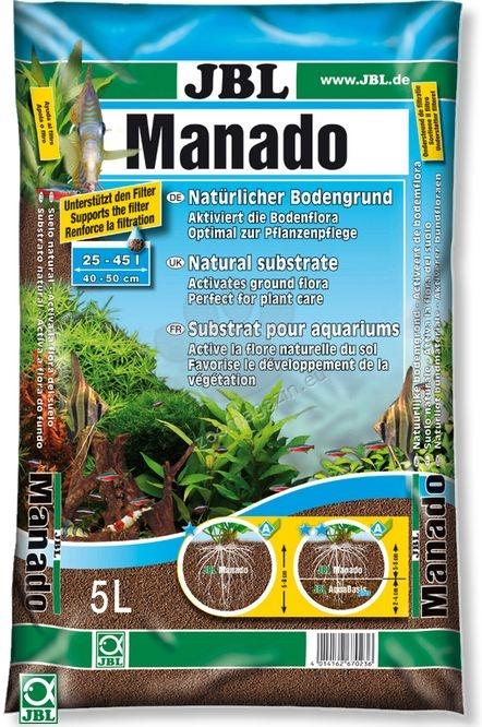 JBL Manado - натурален субстрат за филтрация на водата и подхранване растежа на растенията в аквариума  1.5 литра