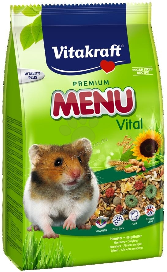 Vitakraft - Menu Vital - пълноценна храна за хамстери с витамини и протеини 400 гр.