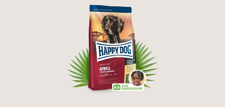 Happy Dog Supreme Africa - с месо от щраус и картофи 12.5 кг.