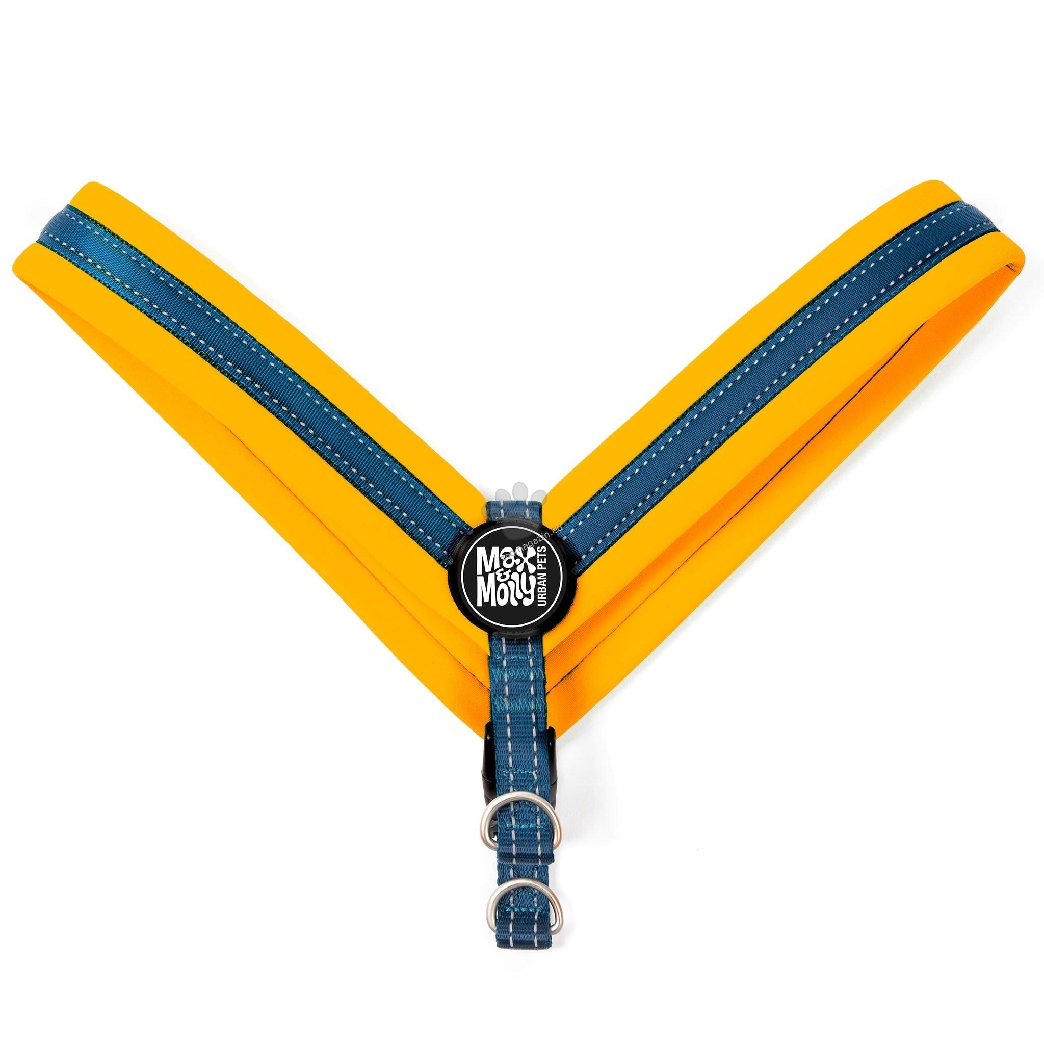 Max Molly H-Harness Q-Fit Orange M - нагръдник за кучета с обиколка на гърдите 37 - 42 см.
