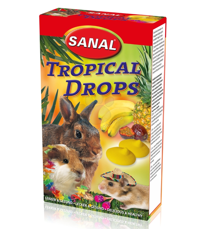 Sanal Rodent Tropical Drops - деликатесно лакомсто с тропически плодове 45 гр.