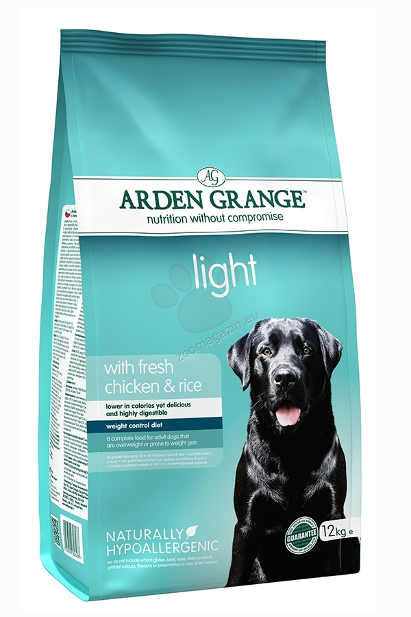 Arden Grange - Adult Light Chicken & Rice - с прясно пилешко месо и ориз, за кучета с наднормено тегло 2 кг.