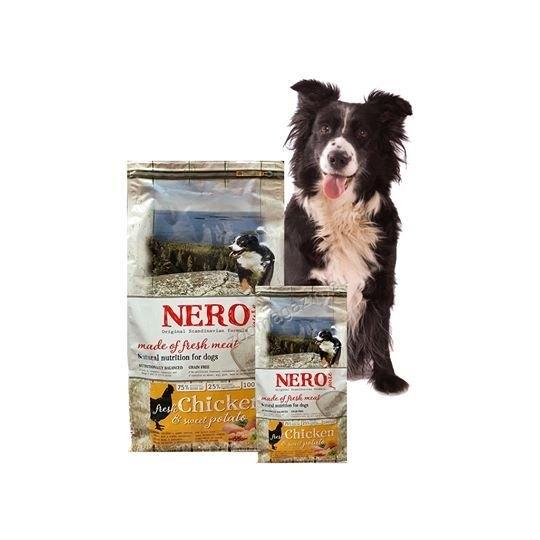Nero Pure Adult Fresh Chicken (grain free) - храна за кучета със 75 % пилешко месо, 25 % плодове и зеленчуци, без зърнени съсътавки и без глутен 12 кг.