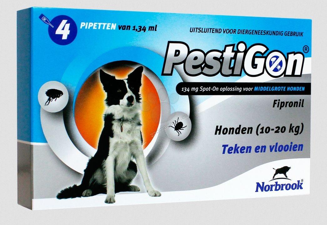Norbrook Pestigon 134 mg spot-on - за кучета с тегло от 10 до 20 кг. / една пипета /