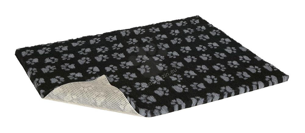 Vetbed Non-Slip Paws Black/Grey - мека постелка със слой против пързаляне 90 / 75 см.