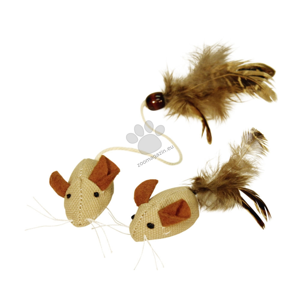 Kerbl Mice with Feathers Nature - натурални мишки с пера 2 броя