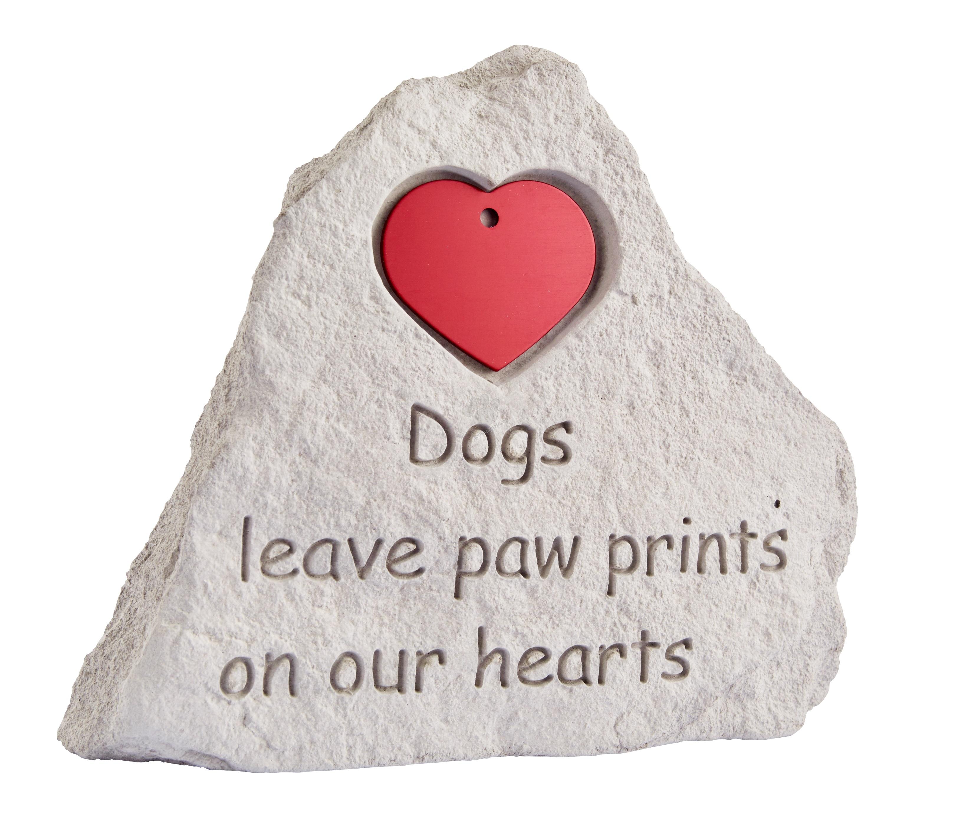 iMARC - Memorial stone for dog with a heart - мемориален камък за поставяне медальон / сърце / куче