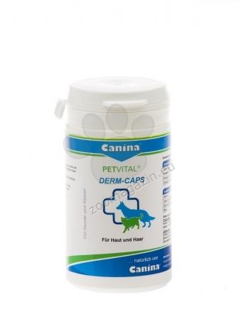 Canina Petvital Derm-Caps - хранителна добавка за метаболитни, хормонални и алергични проблеми, свързани с кожата и козината, 100 капсули