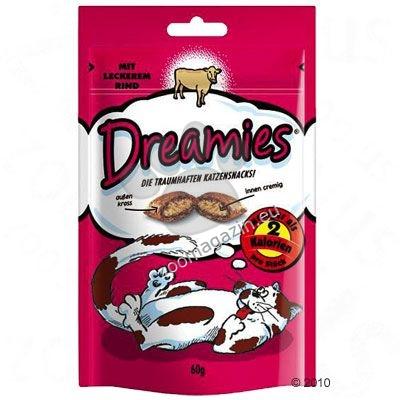 Dreamies Beef - неустоимо лакомство с вкусен кремообразен пълнеж 60 грама