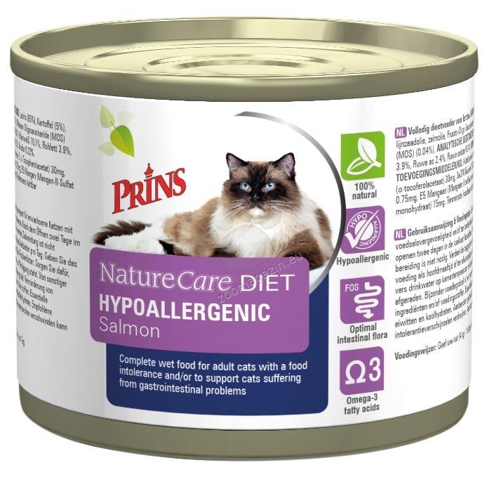 Prins NatureCare Diet Cat Hypoallergic Salmon - диетична храна за котки с непоносимост към храни 200 гр.