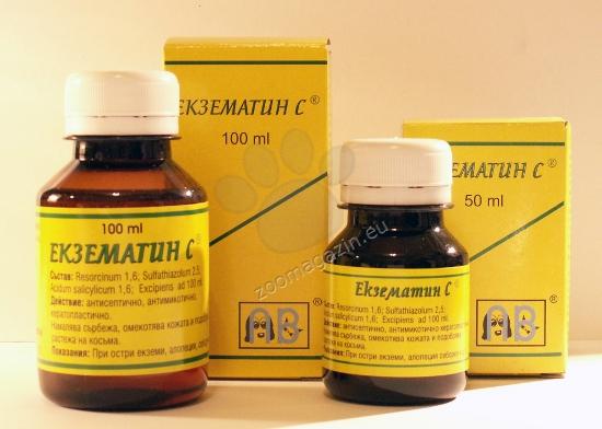 Primavet Екзематин C - за терапия на остра екзема 50 мл.