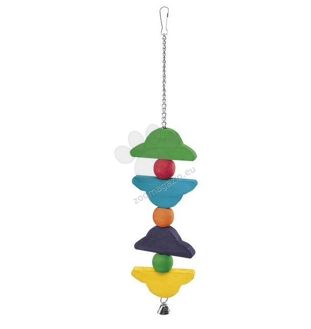 Ferplast - Parrot Toy pa4096 - дървена играчка за средни и големи папагали  9,2 / 2,5 / 47 cm