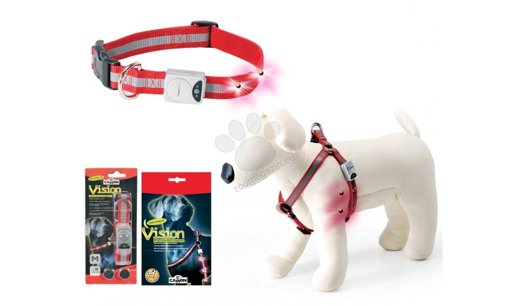 Camon Vision - светещ нашийник, за кучета с обиколка на врата 35 - 50 см.