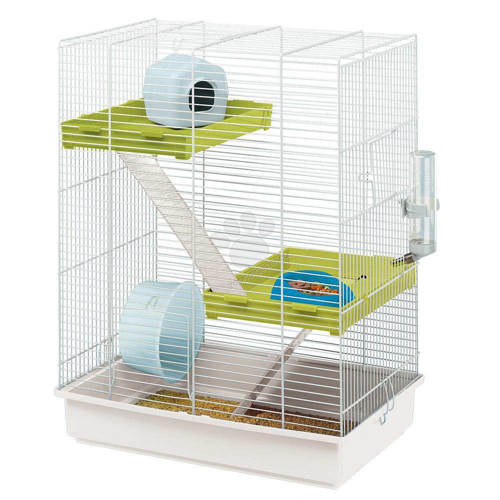 Ferplast - Hamster Tris - клетка с пълно оборудване 46 / 29 / 58 cм.
